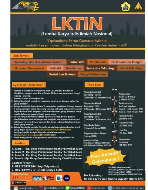 Lomba Karya Tulis Ilmiah Nasional (LKTIN) 2019 di Universitas Bengkulu