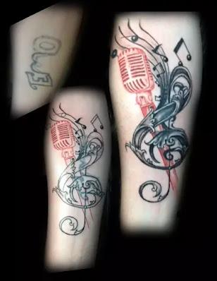 Instrumental Music Hand Tattoo for men
