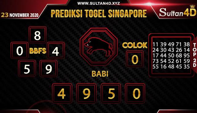 PREDIKSI TOGEL SINGAPORE SULTAN4D 23 NOVEMBER 2020