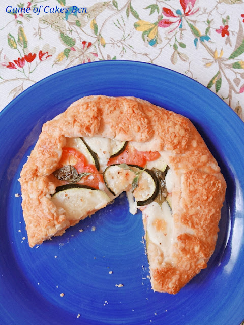 Galette Salada de verduras y queso mozzarella y parmesano