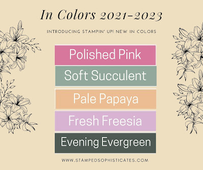 Five new Stampin' Up! In Colors for 2021-2023