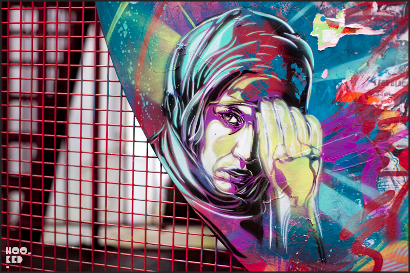 London Street Art by French artist C215 in Shoreditch, London