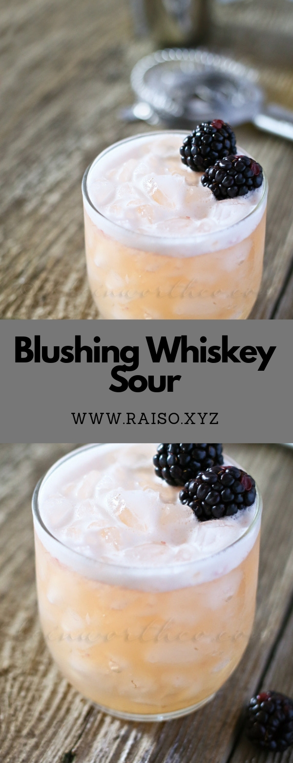 Blushing Whiskey Sour #springdrink #cocktail #smoothie