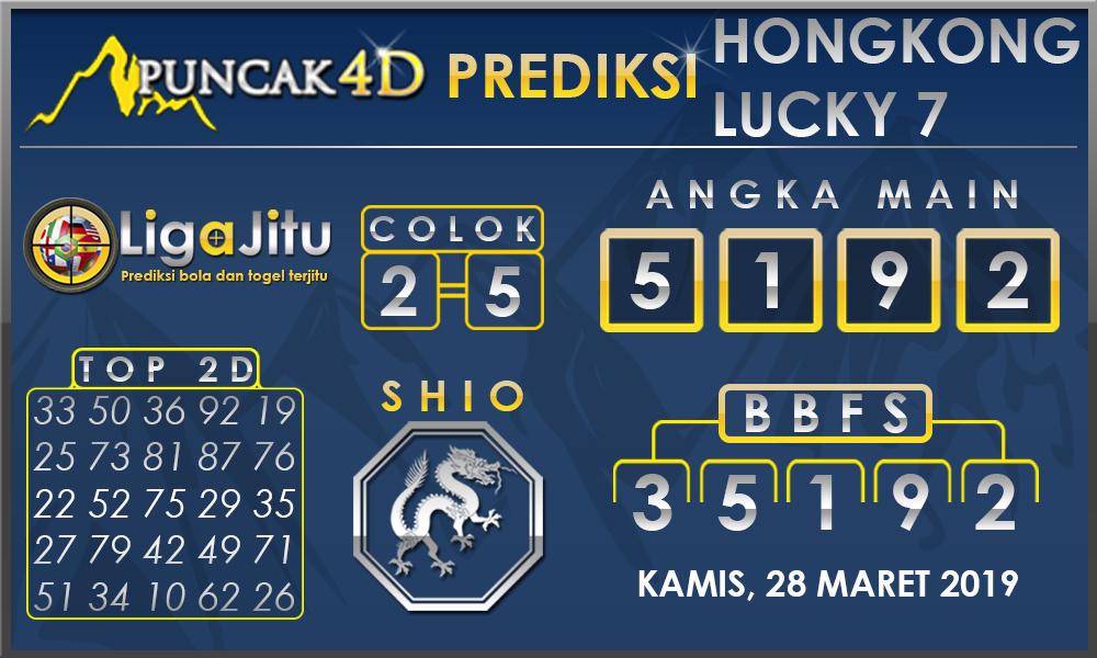 PREDIKSI TOGEL HONGKONG LUCKY7 PUNCAK4D 28 MARET 2019