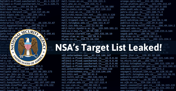 Shadow Brokers reveals list of Servers Hacked by the NSA
