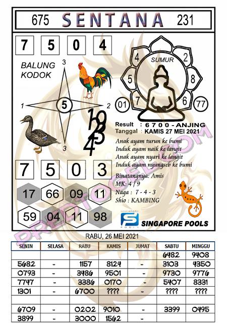 Prediksi Syair Sentana Singapura 45 kamis 27-mei-2021