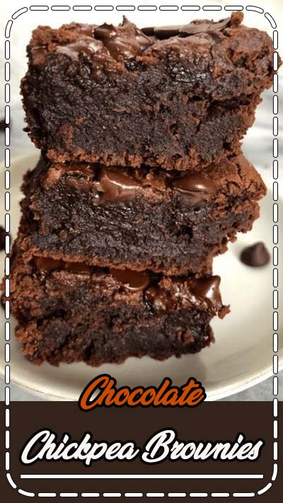 Chocolate Chickpea Brownies are a healthy alternative to regular brownies and are fudgy, chocolatey, and easy to make. They are made gluten free, dairy free and vegan.