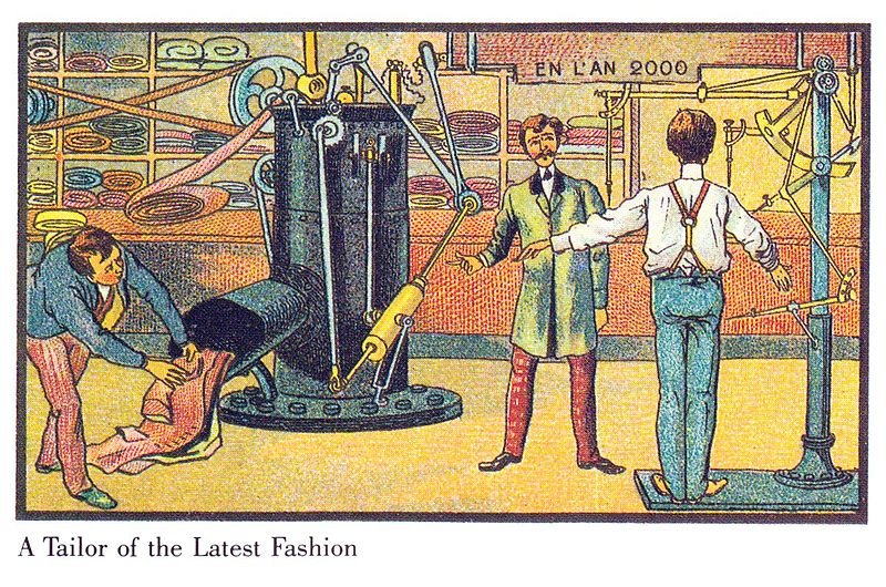 06-A-Tailor-of-the-Latest-Fashion-Villemard-En-L-An-2000-wikimedia-Futurism-with-Illustrated-Postcards-from-the-1900s-www-designstack-co