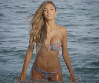 Nicole Scherzinger in X-Factor spot, proves incredible bikini body in Antigua (photos-video)