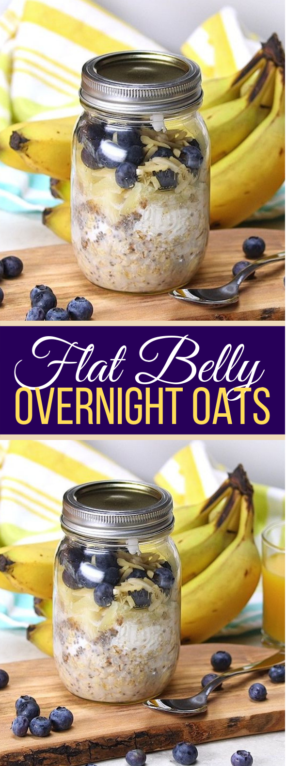 Flat Belly Overnight Oats Will Keep You Trim and Feeling Great #diet #breakfast