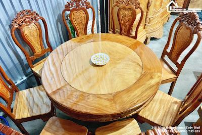 BÀN ĂN MẪU TRÒN bàn ăn gỗ gõ đỏ bàn ăn sang trọng bàn ăn tại huế