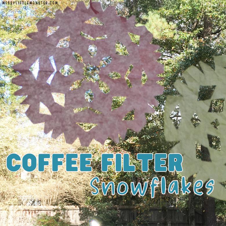 coffee filter snowflakes