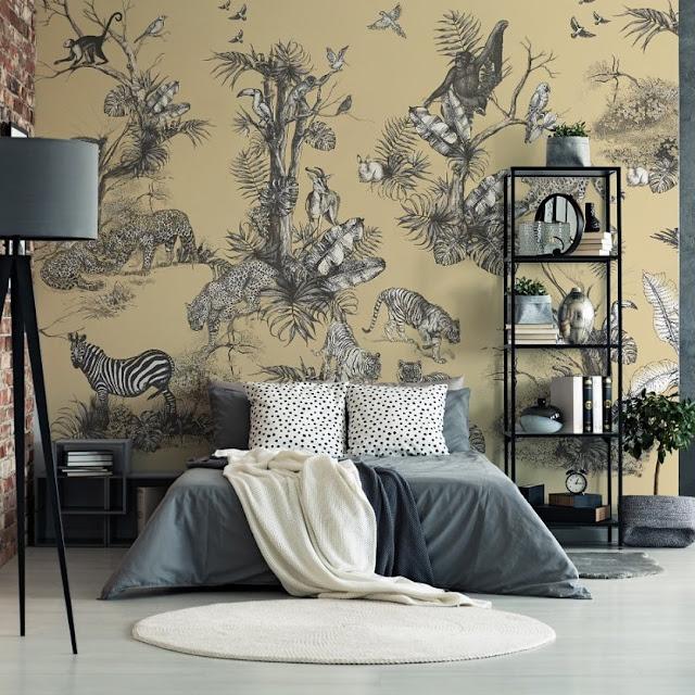 10 Inspirasi Stiker Wallpaper Dinding Kamar Tidur Elegan Terbaru