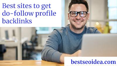 Profile creation sites list for backlinks