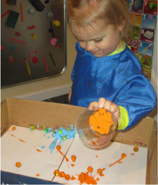 Make beautiful process art and paint with water beads! #paintingideasforkids #waterbeadpainting #waterbeadsideas #waterbeads #growingajeweledrose #activitiesforkids