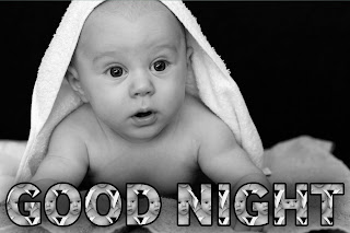 Good night cute baby photos download, good night baby image