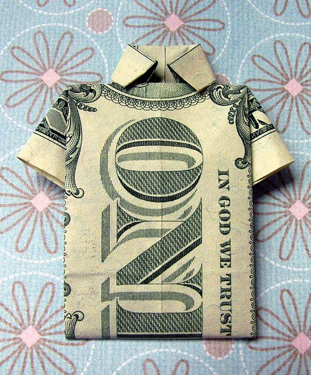 Money-Origami-Tank