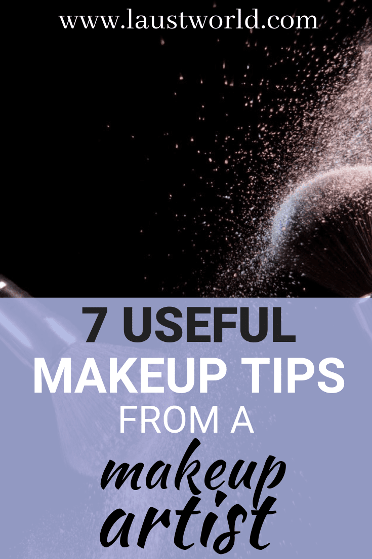 Pinterest image that says makeup tips from makeup artist
