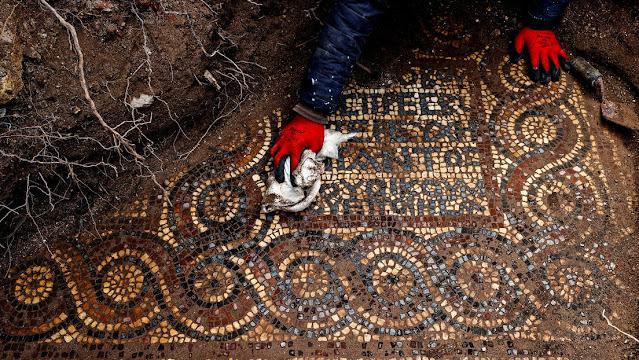 1,500-year-old mosaic found during illegal excavation in Turkey