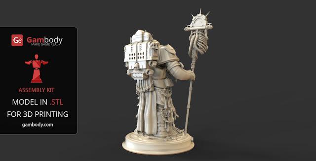 Chaplain Warhammer40k 3D design