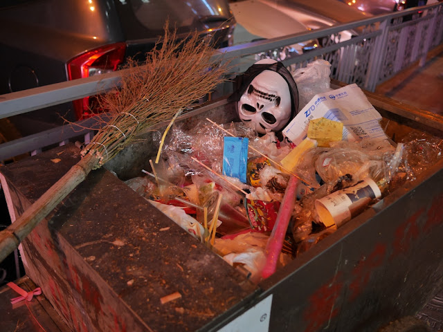 disposed Halloween mask in Changsha