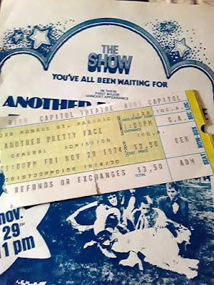 Another Pretty Face ticket stub for The Capitol Theatre November 29, 1974