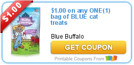 picture relating to Blue Buffalo Printable Coupons identify $1.00 upon any A person(1) bag of BLUE cat snacks Bargains and Toward-Dos
