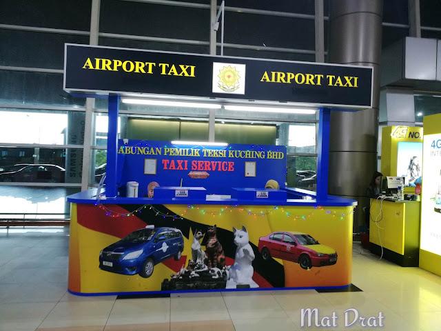 Teksi Taxi Grab Car Kuching Airport