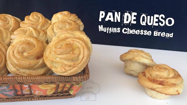 Pan de Queso - Muffins en forma de rosa