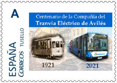 filatelia, tu sello, sello personalizado, Avilés, tranvía