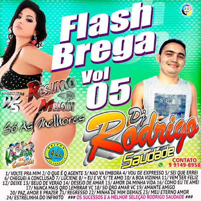CD FLASH BREGA VOL.05 SÓ AS MELHORES / DJ RODRIGO SAUDADE