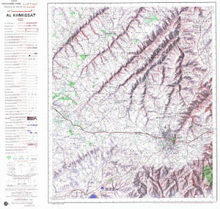 AL-KHMISSAT Morocco 50000 (50k) Topographic map free download