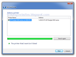cara sharing printer pada beberapa pc dengan jaringan LAN