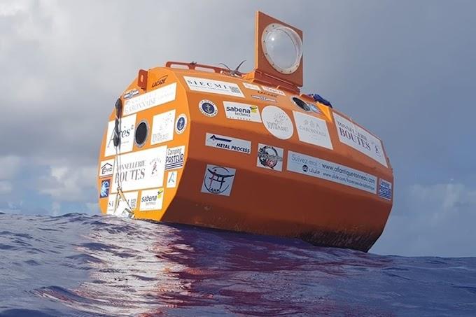 Francês de 72 anos atravessa o Atlântico em um tonel levado por correntes e ventos