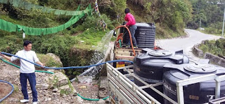 PHE water distribution among Gangtok residents