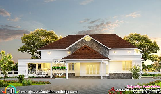 4 bedroom sloping roof bungalow 2860 sq-ft