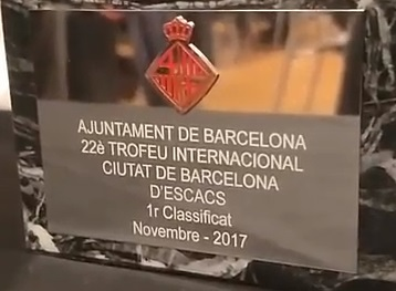 Trofeo de campeón del Torneo Magistral Internacional Ciudad de Barcelona 2017