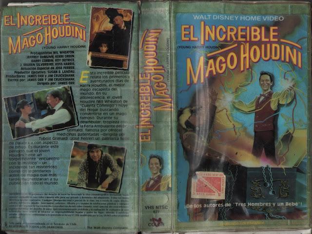 """Pelicula: """"El increible Mago Houdini"""" (1987)"""