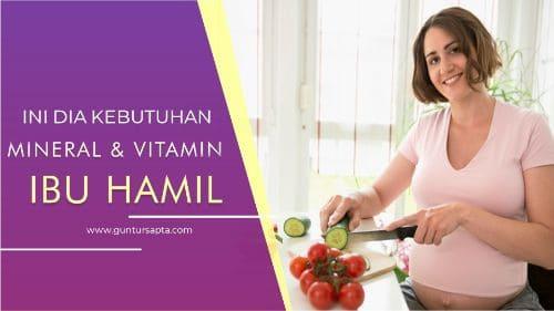 Multivitamin dan mineral penting sejak awal kehamilan