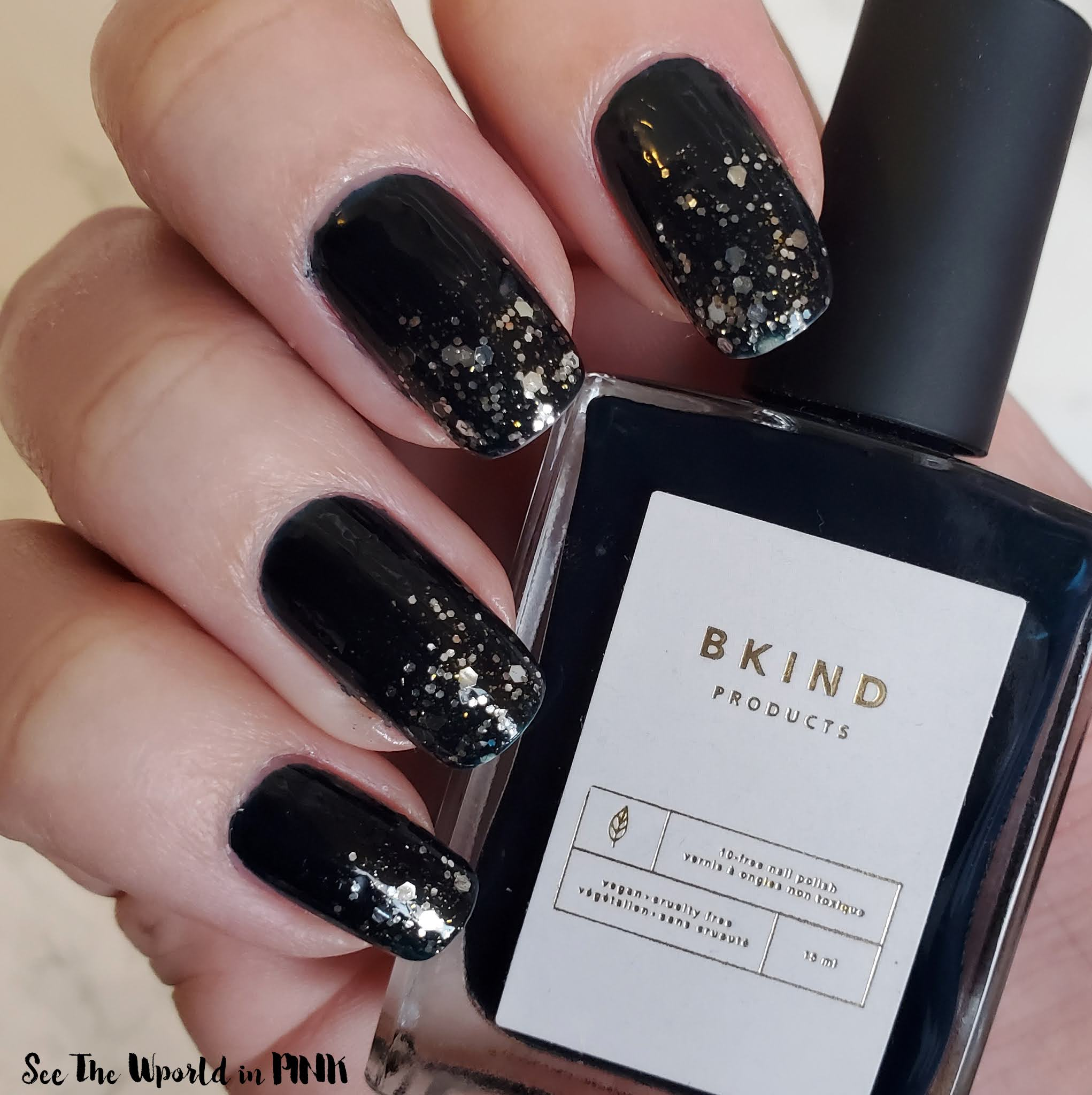 Manicure Tuesday - BKIND polish & Ombre Glitter Polish