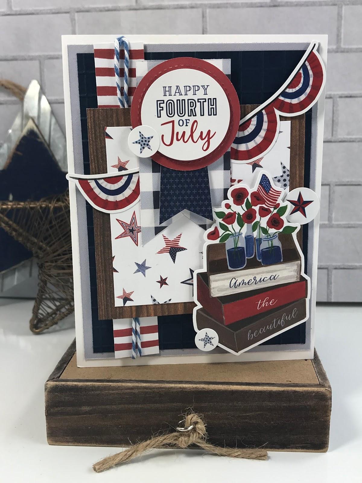 Simply Tya America The Beautiful Card Echo Park Paper
