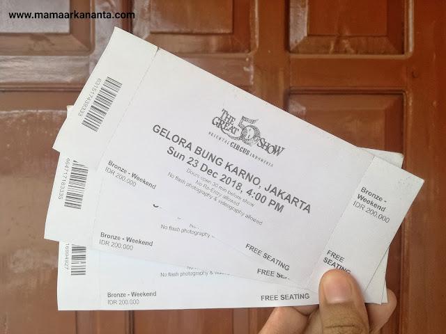 harga tiket sirkus the great 50 show di jakarta surabaya