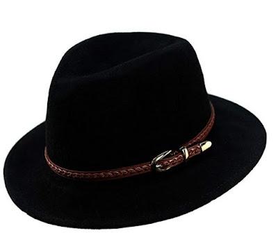 CBB Wool Fedora Black