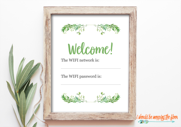 Guest Wifi Sign