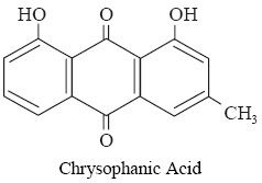 and chrysophanic