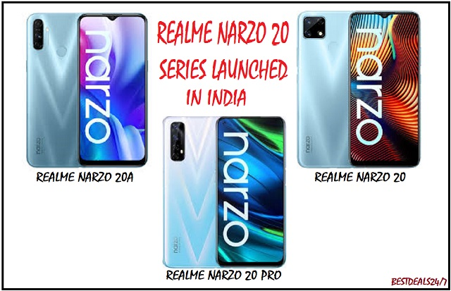Realme Narzo 20, Narzo 20A & Narzo 20 Pro Launched in India