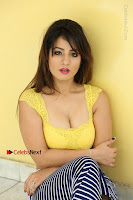Cute Telugu Actress Shunaya Solanki High Definition Spicy Pos in Yellow Top and Skirt  0340.JPG
