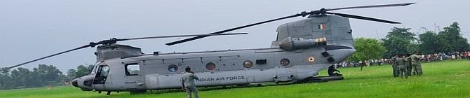 Indian Air Force Ch-47F(I) Chinook Heavy-Lift Helicopter Makes Emergency Landing On School Ground