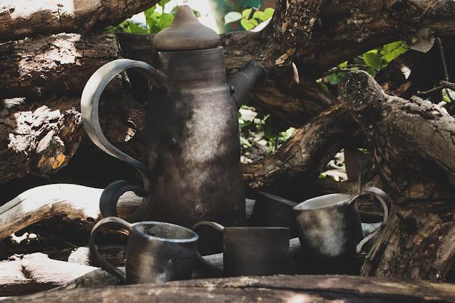 Conjunto de Cerâmica para Café Tropeiro