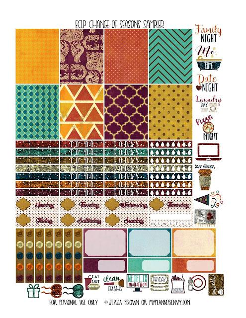 Change of Seasons Sampler for the Vertical Erin Condren Planner on myplannerenvy.com